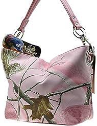 Pink Licensed Realtree Hobo Purse Handbag Tote Camo Camouflage