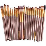 Tenworld Pro 20 pcs Makeup Brush Set Tools Make-up Toiletry Kit Brush Set (...
