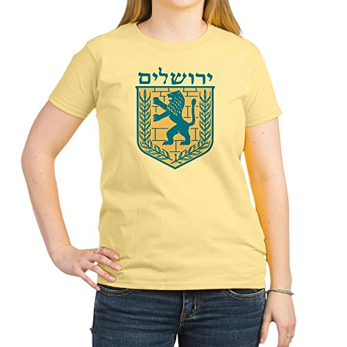Jerusalem Emblem - CafePress Jerusalem Emblem - Womens Cotton T-Shirt, Crew Neck, Comfortable & Soft Classic Tee