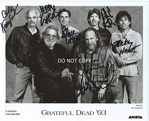 - Grateful Dead band signed reprint promo 8x10 photo Jerry Garcia + RP