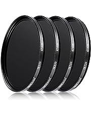 Neewer® - 4 filtros de Infrarrojos, 67 mmIR720, IR760, IR850, IR950 con Bolsa de Transporte de Filtro para cámaras réflex Nikon D7100 D700 D5200 D5100 D500 D3300 D3200 D3000 D90 D80