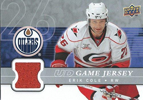 (HCW) 2008-09 Upper Deck Game Jersey ERIK COLE NHL Hockey 01224