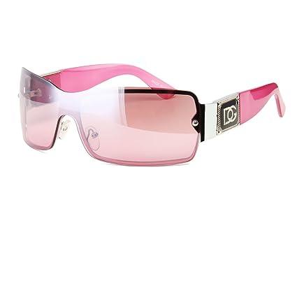 9e420d945ee3e Amazon.com  Pink Eyewear Womens Mens Shield Designer Sunglasses Shades  Fashion Retro Wrap Usa  Home   Kitchen
