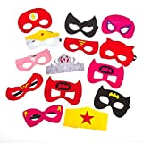 Girls Superhero Party Masks- Perfect Party Bag Favors for Girls Aged 3+ Fourteen Masks in Each Pack- Perfect for a Superheroes Party