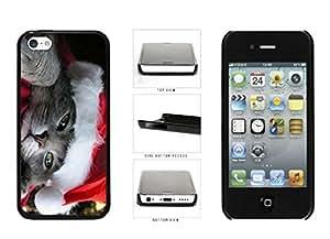 Cute Cat in Santa Hat Plastic Phone Case Back Cover Apple iPhone 5c