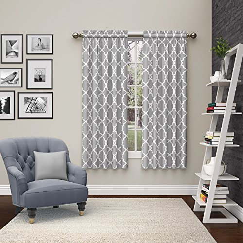 Pairs to Go 15617056X063GRY Vickery 56-Inch by 63-Inch Window Curtain Pair, ()
