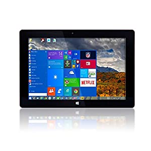10″ Fusion5 Ultra Slim Windows Tablet PC- (Full Size USB 3.0, Intel Quad-core, 5MP and 2MP Dual Cameras, HDMI, Bluetooth, Windows 10 Home Tablet Computer)