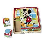 Puzzle de cubo de madera de Melissa y Doug Disney Mickey Mouse