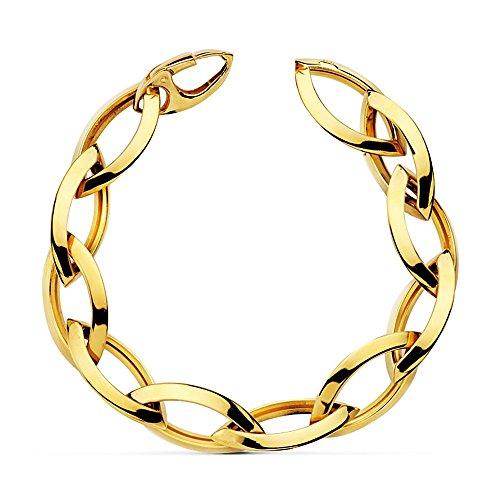 Bracelet 18k liens creux 21cm. [AB2339]
