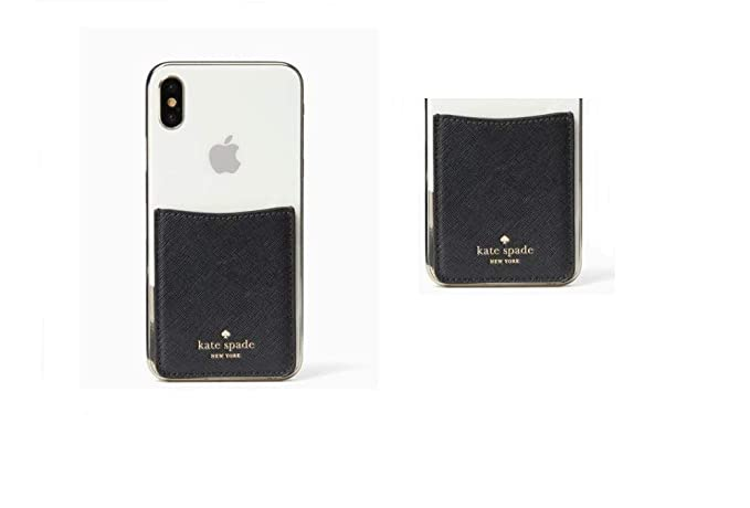 watch 6d2d4 60476 Amazon.com: Kate Spade Black Solid Sticker Pocket for Any Cell Phone ...