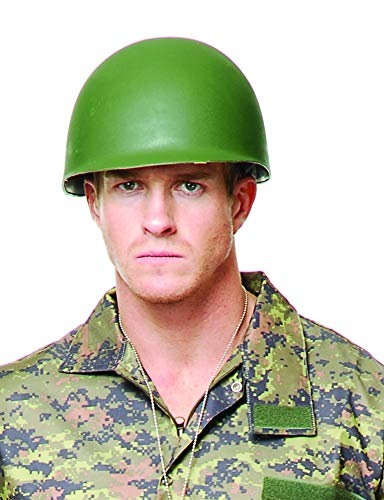 Charades Unisex-Adult's G.I. Helmet, Green, One Size for $<!--$12.99-->
