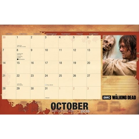 Walking Dead Blotter 2018 Desk Pad Calendar Photo #3