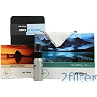 Lee Filters 62mm Big Stopper Kit - Lee Filters 4x4 Big Stopper (10-stop ND Filter), Lee Filters Foundation Kit and 62mm Wide Angle Ring with 2filter cleaning kit