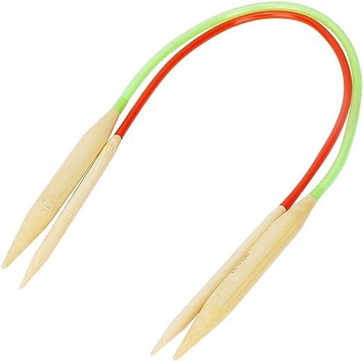 Doppelspitze Rundstricknadel aus Bambus 18 St/ück Mehrfarben-Kunststoffrohr Gebleicht in verschiedenen Gr/ö/ßen HEEPDD Doppel-Rundstricknadeln 60cm//23.6in