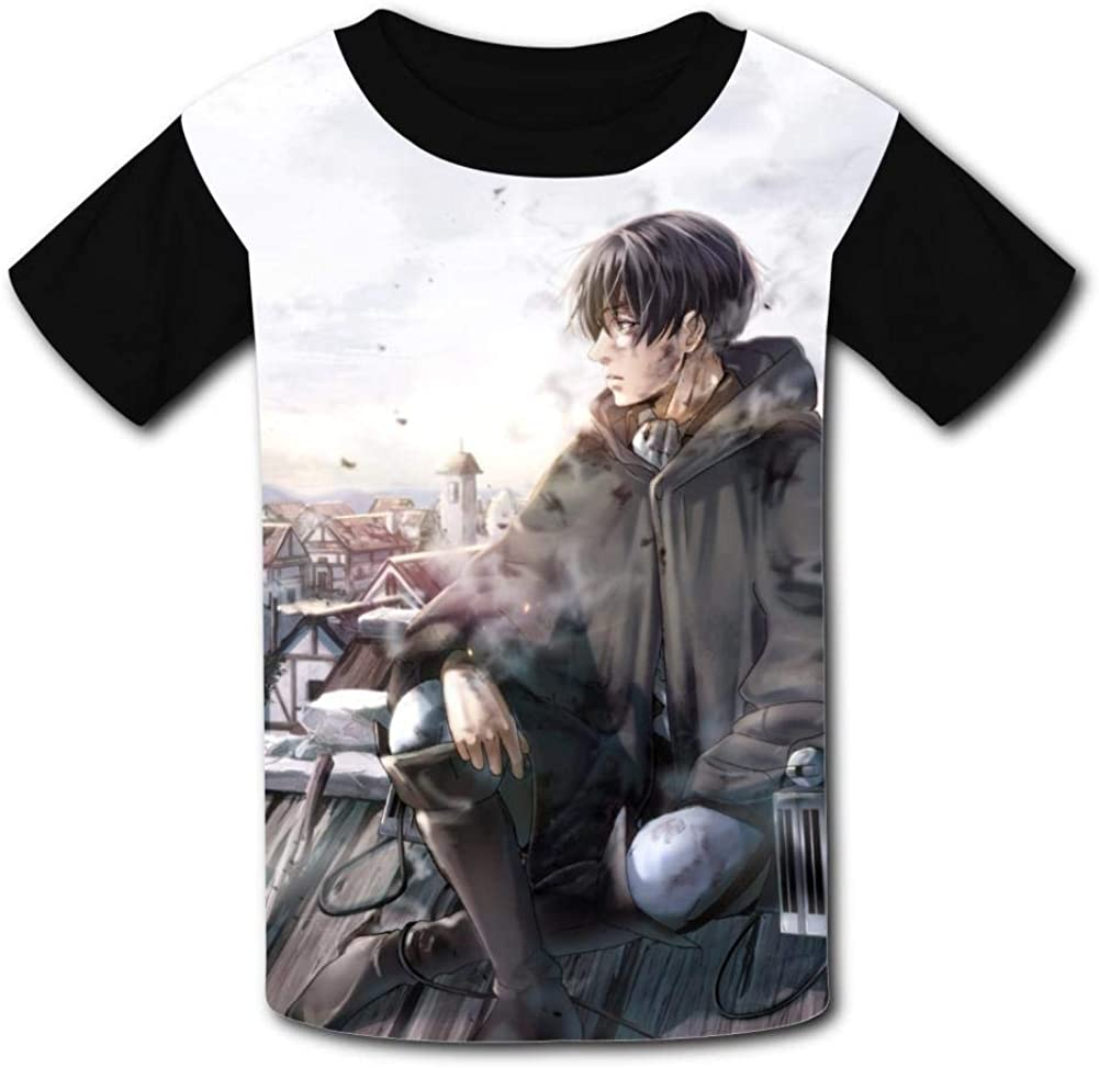 Attack-On Ti-tan Wings of Freedom Kids Tee Short Sleeve Round Neck Boys Girls 100/% Polyester T-Shirt