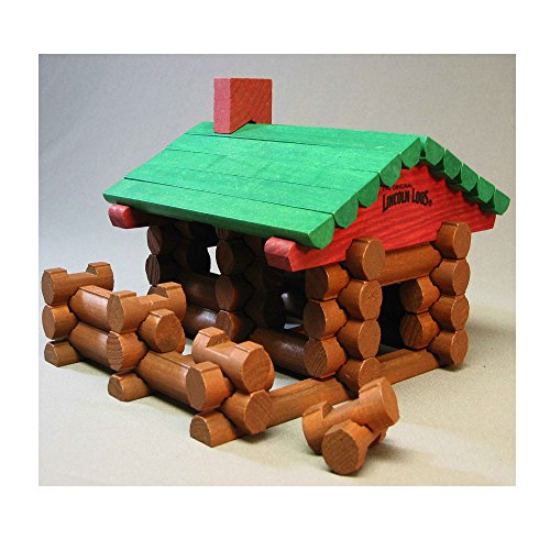 LIONEL FASTRACK LINCOLN LOGS LOG CABIN train building house block from Lionel