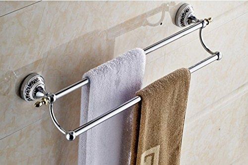 Toilet Dry-Towels Porcelain Green Flower Pole Double Door-Towels Towel Rack Door Ring-Towels ()