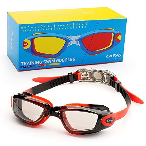 CAPAS Kids Swim Goggles, Age 4-12 Boys Girls Swimming Goggles Comfortable Fit