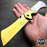 Only US 9″ Viper Tactical Sharp Cleaver Blade Spring Assisted Open Pocket Knife Gold New Review