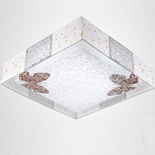 48cm Modern cloth led ceiling lights fashion brief faux butterfly ceiling light lamp lighting fixture dining ceiling lamps FG877 ( Size : Warm light ) by WINZSC