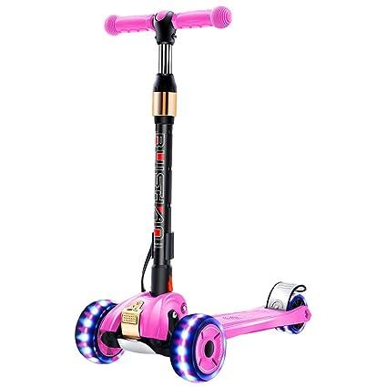 HYE-Patinete Niños Scooter 2-12 años 3 Cuatro Ruedas Kick ...
