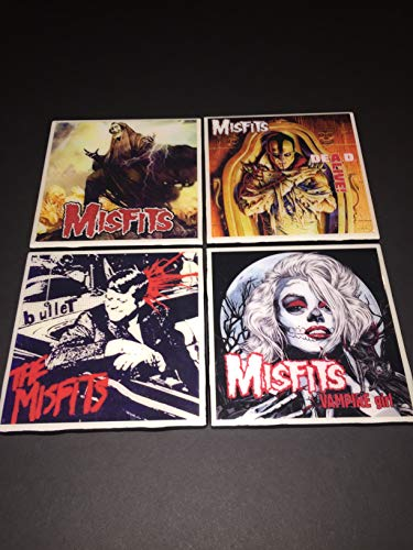 (Set of four Misfits Ceramic Album Art Coasters)
