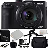 Canon PowerShot G3 X Digital Camera 32GB Bundle 13PC Accessory Kit. Includes 32GB Memory Card + Extended Life NB-10L Replacement Battery + High Speed Memory Card Reader + LED Video Light Kit + Mini HDMI Cable + Carrying Case + Microfiber Cleaning Cloth - International Version (No Warranty)