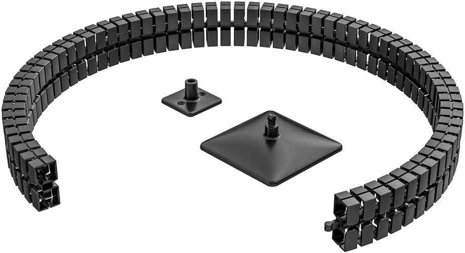 Gu/ía de cables cuadrada Kuba Slim Line 1260 mm. Longitud Negro
