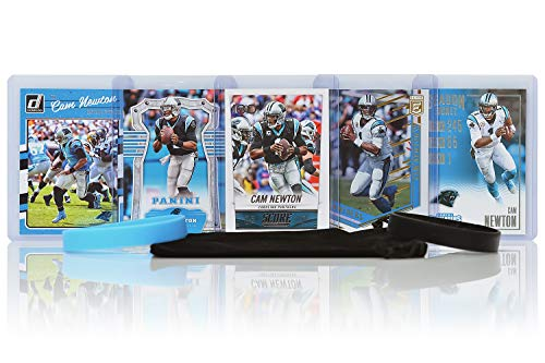 Cam Newton (6) Assorted Football Cards Bundle - Carolina Panthers Trading Cards ()