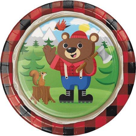 Bear Dinner Plate (8 Count Lum Bear Jack 9