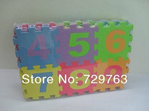 36 Pcs EVA Foam Numbers and Alphabet Play Mat Puzzle Floor Mat - 5.5 Inch Foam Tiles