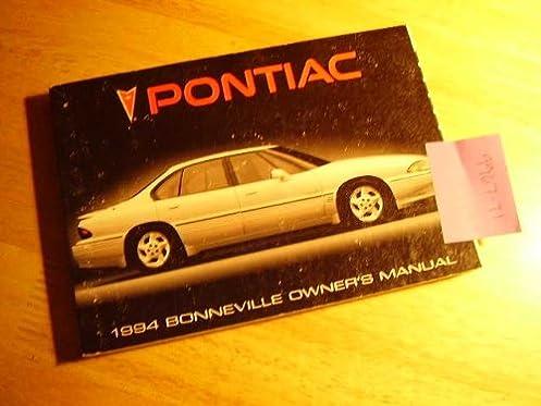 1994 pontiac bonneville owners manual pontiac amazon com books rh amazon com 1996 Pontiac Bonneville 1997 Pontiac Bonneville