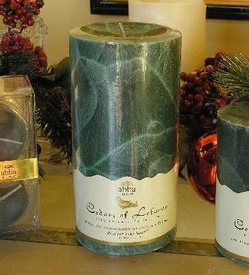 1 X Candle-Cedars Of Lebanon 3x6 Palm Pillar by (Palm Pillar Candle)