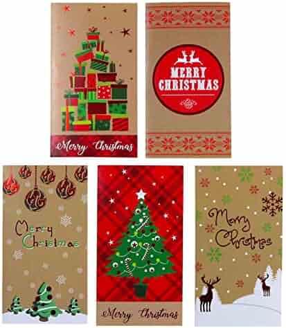 Kraft Christmas Money Wallet/Gift Card Holder with Envelopes 30-Count Set