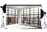 Gladbuy Vinyl 7X5FT Office Room Backdrop Fancy French Window New York City Skyscraper Photography Background for Kids Adults Portraits Photo Studio Props KX233