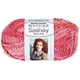 Coats Yarn Red Heart Boutique Sashay Sequins Yarn, Coral