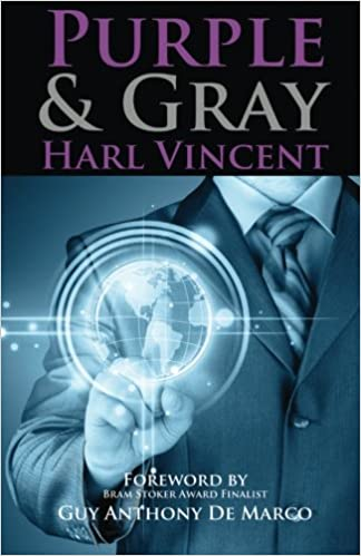 Book cover - Purple & Gray