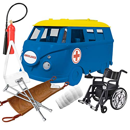Figures Toy Company Deluxe Ambulance Playset for WWE Wrestling Action Figures: Blue