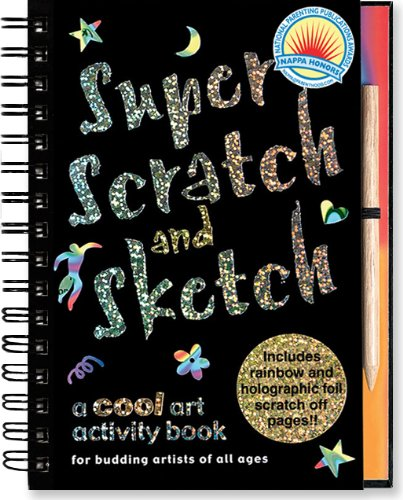 Super Scratch and Sketch: A Cool Art Activity Book for Budding Artists of All Ages (Scratch & Sketch) (Coloring Black Paper Book)