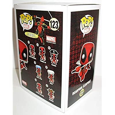 Funko POP! Marvel Collector Corps Vinyl Bobble-Head Figure - Deadpool (Leaping) Exclusive: Toys & Games
