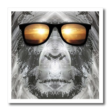 Perkins Designs Bigfoot in Shades Bigfoot or Sasquatch is Pictured Iron on Heat Transfer Paper, 8 by 8-Inch