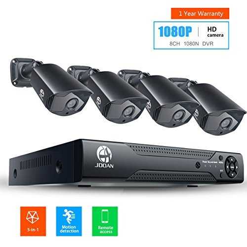 JOOAN 2MP TVI Security Camera System 4 X 1080P Weatherproof