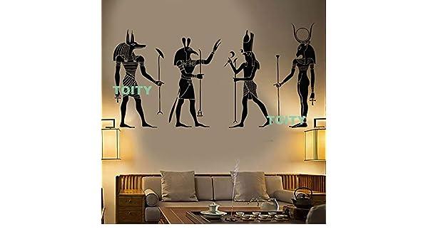 Baobaoshop Vinilo Tatuajes de Pared Egipto Dioses Egipcios Anubis ...