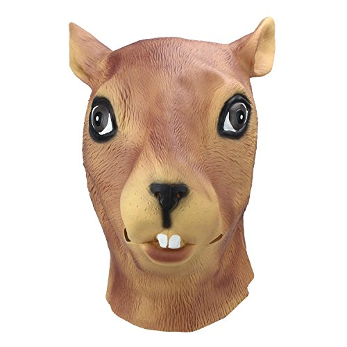 niceeshop(TM) Magical Creepy Adult Squirrel Head Latex Rubber Mask Animal Costume Prop Toys Party Halloween Theater