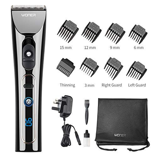 WONER Cordless Hair Clippers for Men Professional Rechargeable Hair...