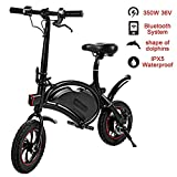 shaofu Folding Electric Bicycle – 350W 36V Waterproof E-Bike with 15 Mile Range, Collapsible Frame, and APP Speed Setting (Black-6AH) Review