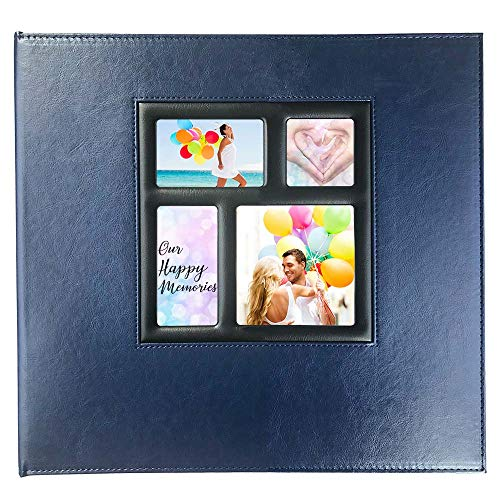 Photo Album 4x6 610 Photos, Pages Expandable, Premium Leather Cover Large Photo Album Holds 610 Vertical and Horizontal Photos for Baby Family Wedding, Navy Blue