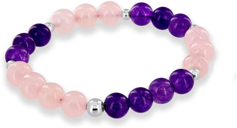 Mens Gemstone Bracelet Diffuser Bracelet Amethyst Gemstone Mala Bracelet Mens Bracelet