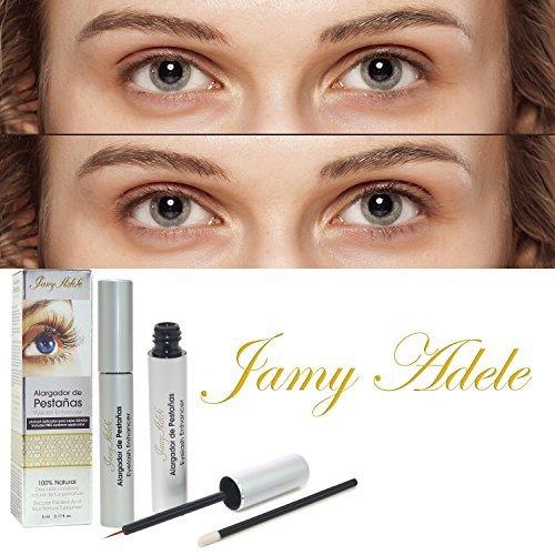 JanyAdele 3D ORGANIC Eyelash Growth Enhancer w/FREE Eyebrow Brush Applicator! - MORE Serum Oil - 100% Natural Vitamins - No Eye Irritation - Goodbye to Glue Extensions, Magnetic, or Fakes!