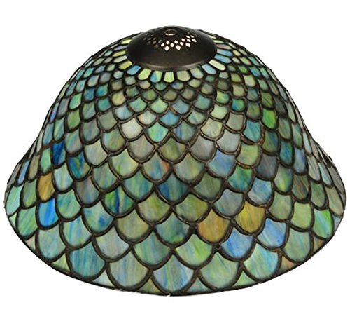 Meyda Tiffany 23953 Fish Scale Shade, 12'' W by Meyda Tiffany